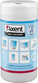 Серветки для екранів Axent вологі 100 шт 5302-А
