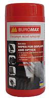Салфетка для экранов и оптики Buromax 50х70см белая BM.0802