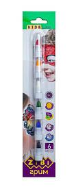 Олівці для макіяжу обличчя і тіла ZiBi KIDS Line ПОЗИТИВ 6 кольорів стандарт 22 гр (ZB.6569)