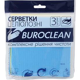 Влаговпітивающие серветки целюлозні Buroclean 15х15 3 шт/уп (10200112)