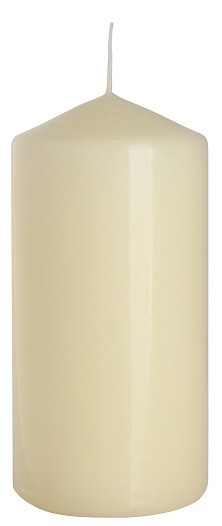 Свеча кремовая свадебная 60х120мм. 1шт