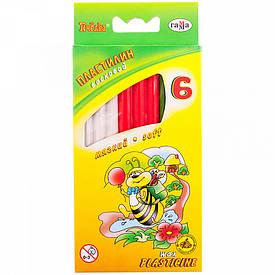 Пластилін Гамма Бджілка м'який 6 кольорів 73г 280029Н