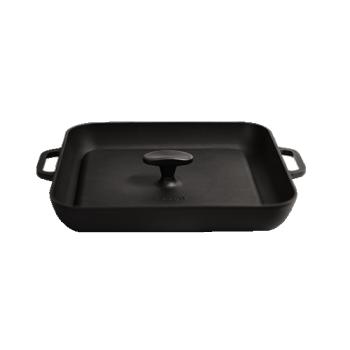 Сітон Чавунна сковорода гриль квадратна з пресом (280х280х40)