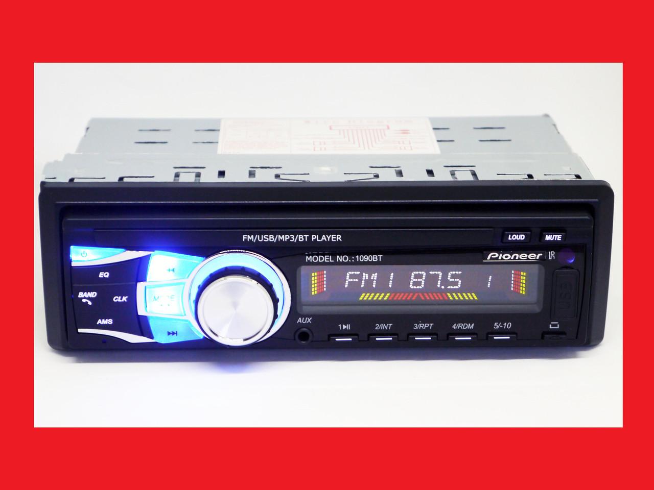 Автомагнитола Pioneer 1090BT - Bluetooth MP3 Player, FM, USB, microSD, AUX - СЪЕМНАЯ панель