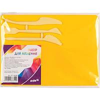 Набор для лепки Kite доска 180x250мм 3стека желтый K17-1140-08