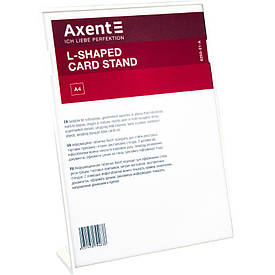Табличка информационная Axent А4 L-образная 210х297 мм белая (6250-21-A)