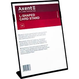 Табличка информационная Axent А4 L-образная 210х297 мм черная (6250-01-A)