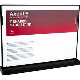 Табличка информационная Axent А4 горизонтальная 297х210 мм черная (6265-01-A)