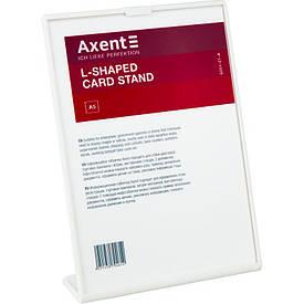 Табличка информационная Axent А5 L-образная 148х210 мм белая (6251-21-A)