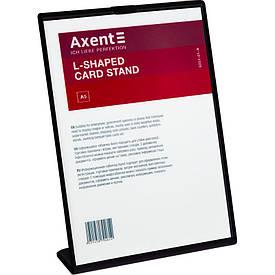 Табличка информационная Axent А5 L-образная 148х210 мм черная (6251-01-A)