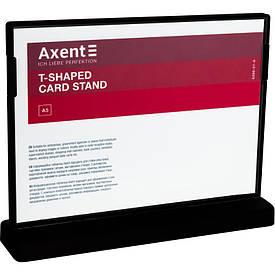 Табличка информационная Axent А5 горизонтальная 210х148 мм черная (6266-01-A)