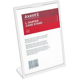 Табличка информационная Axent А6 L-образная 105х148 мм белая (6252-21-A)