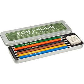 Набір цангових олівців Koh-I-Noor Diamond Pencils, мет.пенал, 6 шт. (5217)