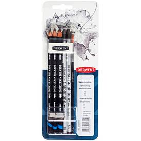 Набір чорнографитных олівців Watersoluble Sketching, 8 предметів, в блістері, Derwent