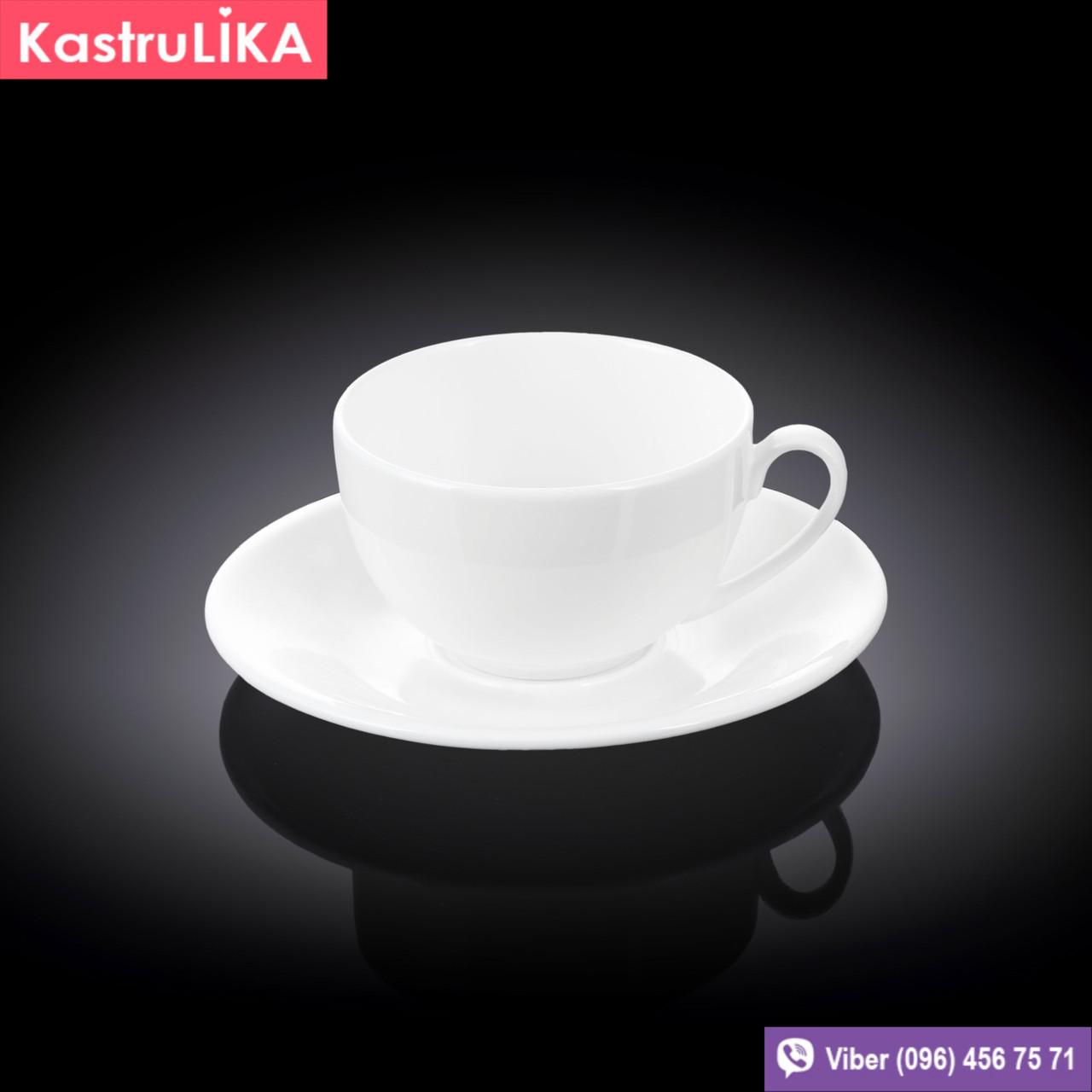 Чашка с блюдцем для кофе Wilmax 120мл