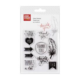 """Набір акрилових штампів """"Thank you"""", 1x1 см - 3x2,5 см, 9 шт, Knorr Prandell"""