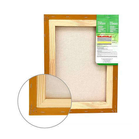 Полотно на підрамнику Етюд дрібне зерно 40x40 см бавовна охра світла 4820149873343, фото 2