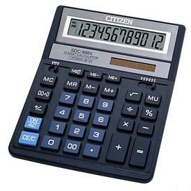 Калькулятор Citizen  12 разрядов  чёрный SDC-888 ХBK
