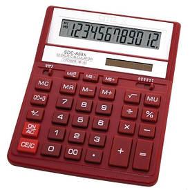 Калькулятор Citizen  12 разрядов  красный SDC-888 ХRD