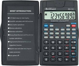 Калькулятор інженерний Brilliant 8 розрядів. 2-експ. 56 ф-ций BS-110
