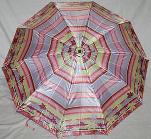 Зонт жіночий SR 301S 5182 антиветер напівавтомат сатиновий купол, фото 2
