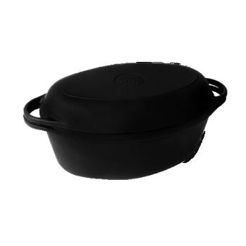 Утятница (гусятница) с крышкой - сковородой 400х260х140