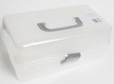 Арт-бокс для художніх матеріалів 33х20х15 см пластиковий D. K. ART & CRAFT 6926586613615