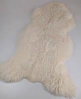 Натуральная меховая накидка из овечьей шкуры белая 95 см * 50 см.