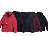 Мужская плотная демисезонная куртка красная, фото 5
