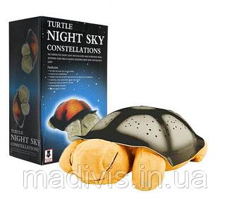 Музыкальный ночник - проектор звездного неба ЧЕРЕПАПХА Turtle Night Sky