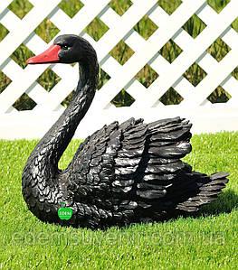 Садовая фигура Лебедь черный малый