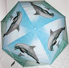 Зонт-трость женский SR K355 дельфин