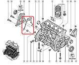 Прокладка передней крышки на Рено Дастер  2.0 16V  начиная с 2011— Renault (Оригинал) - 135208446R, фото 3