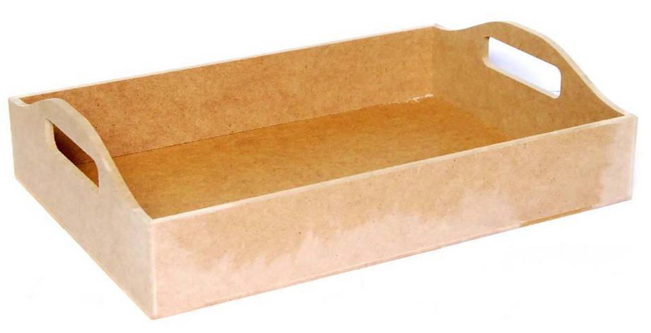 Поднос МДФ с ручками 37х26.5х6.5 см, фото 2
