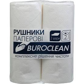 Полотенца целлюлозные Buroclean 2х сл.по 2 рул.на гильзе белые (10100400)