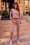 Модный спортивный костюм штаны + кофта Love р. 42-44, 46-48, фото 4