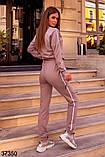 Модный спортивный костюм штаны + кофта Love р. 42-44, 46-48, фото 5