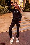 Модный спортивный костюм штаны + кофта Love р. 42-44, 46-48, фото 7