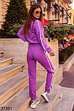 Модный спортивный костюм штаны + кофта Love р. 42-44, 46-48, фото 9