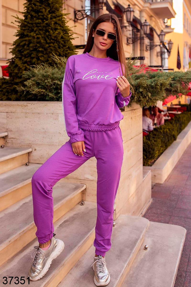 Модный спортивный костюм штаны + кофта Love р. 42-44, 46-48