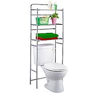 Полиця для туалету Tatkraft 3х ярусна підлогова з хромованої сталі 59.5х151.5х26 см (13292), фото 2