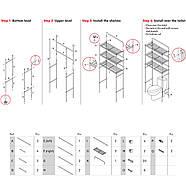 Полиця для туалету Tatkraft 3х ярусна підлогова з хромованої сталі 59.5х151.5х26 см (13292), фото 3