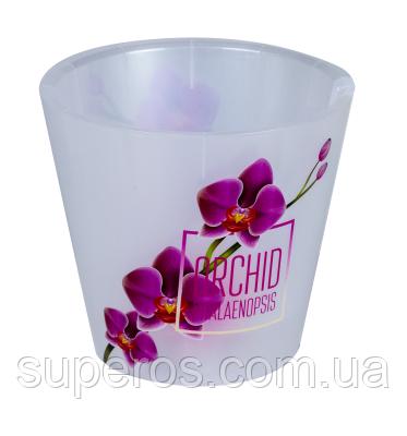 Горшок для цветов London Orchid Deco D 160 мм/1,6 л Розовая Орхидея