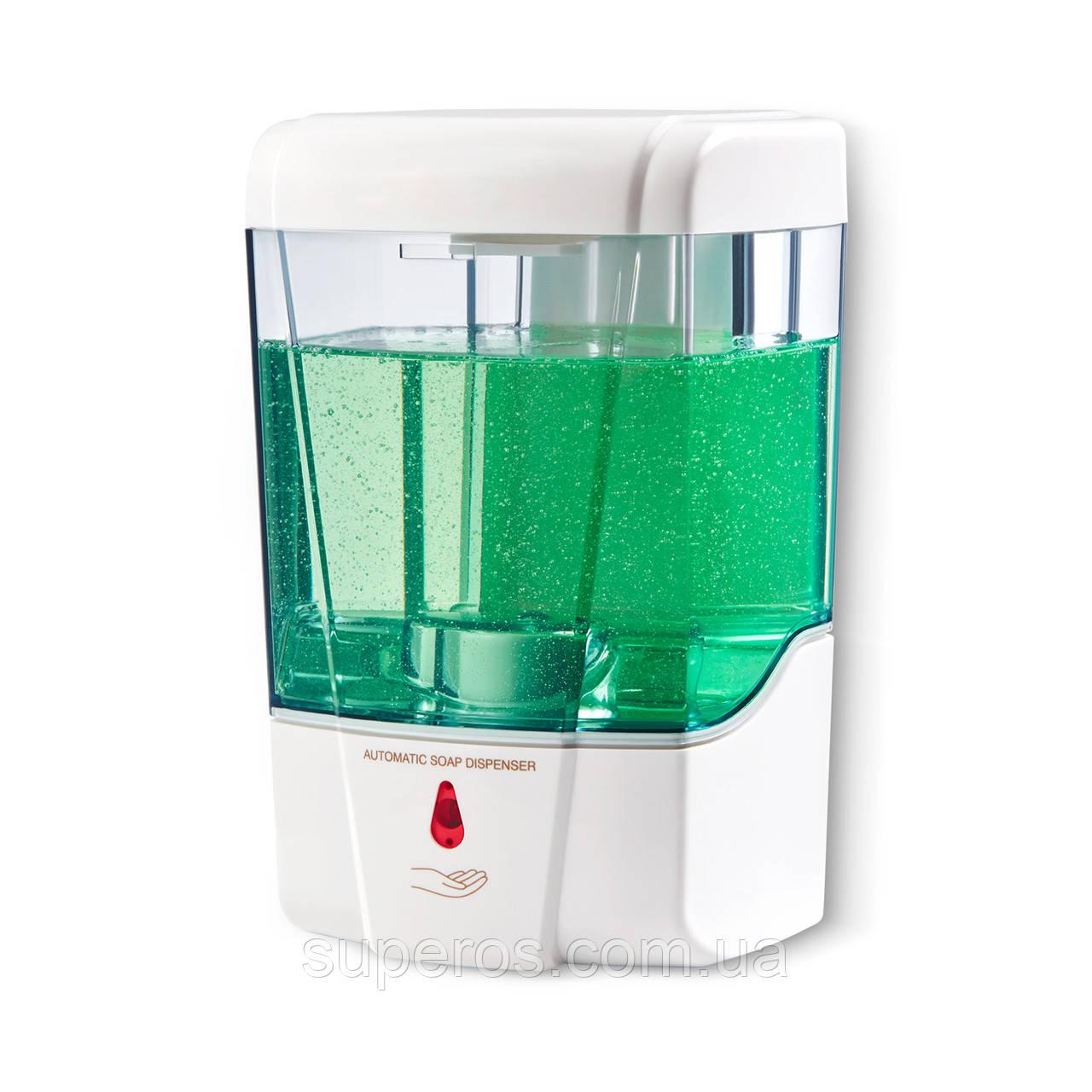 Настенный сенсорный дозатор для жидкого мыла, 600 мл White