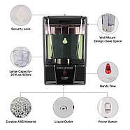 Настенный сенсорный дозатор для жидкого мыла, 600 мл White, фото 3