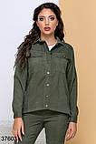 Стильный вельветовый костюм брюки + рубашка на пуговицах р. 44, 46, 48, 50, фото 4