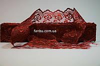 Кружево темно красное, ширина 4 см(1упаковка-10ярдов)