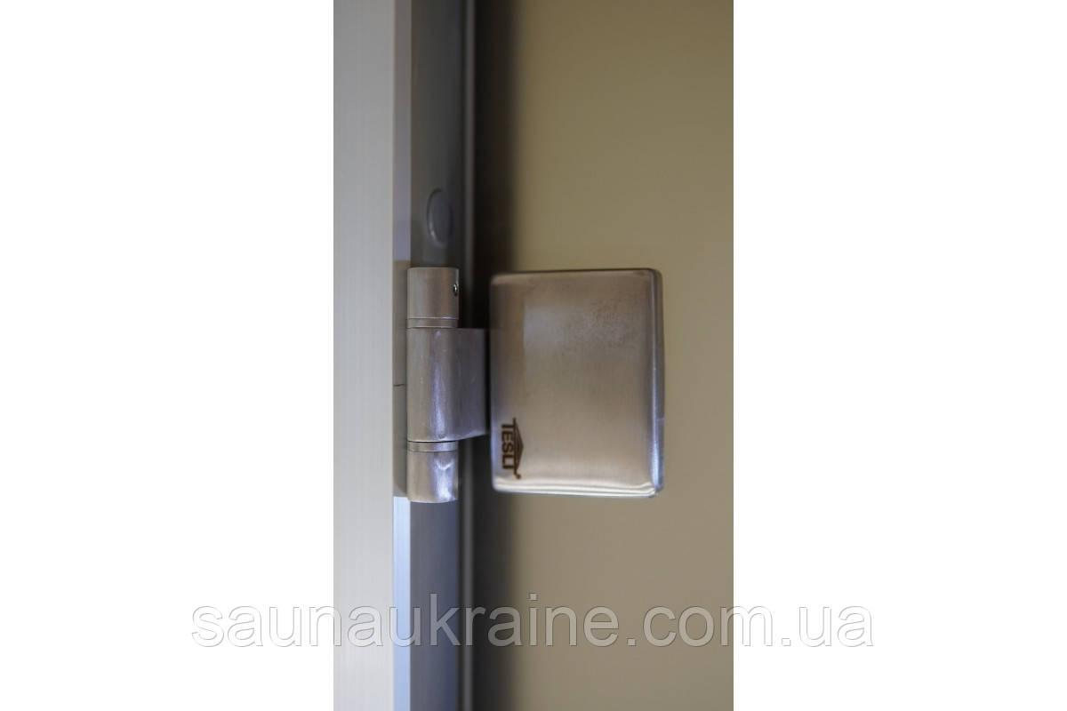 Стеклянная дверь для хамама прозрачная бронза 70/190 алюминий
