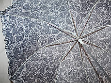 Зонт-трость женский купол гриб черно-белый, фото 3