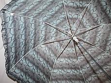 Зонт-трость женский купол гриб черно-бирюзовый, фото 3